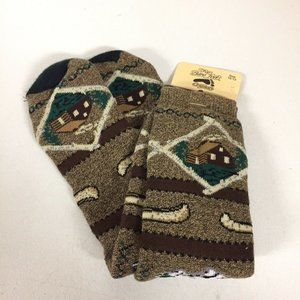 For Bare Feet Originals Socks Tall Log Cabin